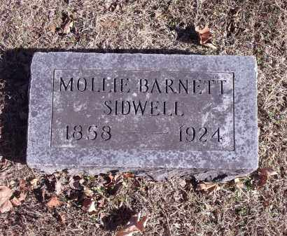 BARNETT SIDWELL, MOLLIE - Washington County, Arkansas | MOLLIE BARNETT SIDWELL - Arkansas Gravestone Photos