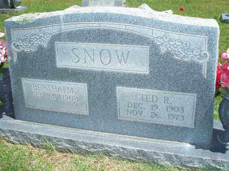 SNOW, BERTHA M. - Washington County, Arkansas | BERTHA M. SNOW - Arkansas Gravestone Photos