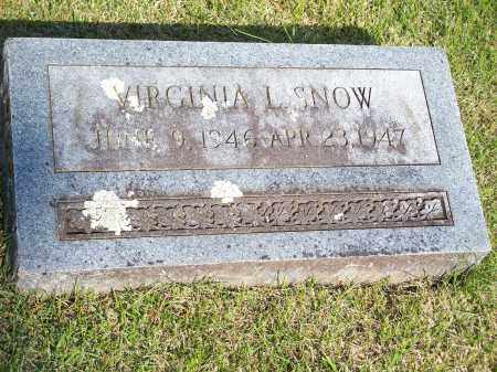 SNOW, VIRGINIA L. - Washington County, Arkansas | VIRGINIA L. SNOW - Arkansas Gravestone Photos