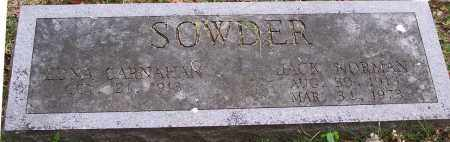 SOWDER (VETERAN WWII), JACK NORMAN - Washington County, Arkansas | JACK NORMAN SOWDER (VETERAN WWII) - Arkansas Gravestone Photos