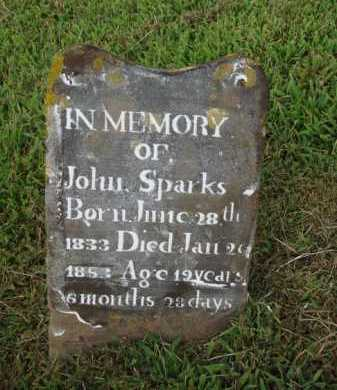 SPARKS, JOHN - Washington County, Arkansas | JOHN SPARKS - Arkansas Gravestone Photos