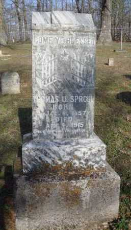 SPROUL, THOMAS U. - Washington County, Arkansas | THOMAS U. SPROUL - Arkansas Gravestone Photos