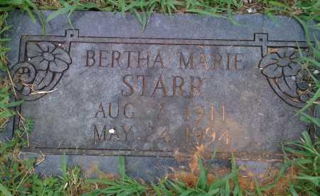 STARR, BERTHA MARIE - Washington County, Arkansas | BERTHA MARIE STARR - Arkansas Gravestone Photos
