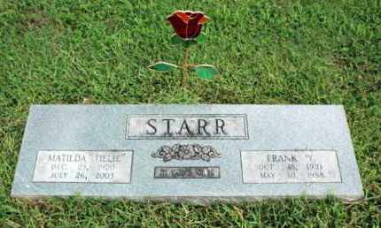 "STARR, MATILDA ""TILLIE"" - Washington County, Arkansas 
