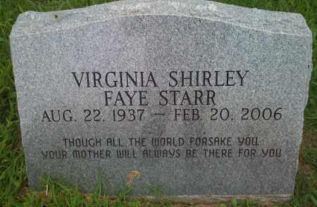 STARR, VIRGINIA SHIRLEY FAYE - Washington County, Arkansas   VIRGINIA SHIRLEY FAYE STARR - Arkansas Gravestone Photos