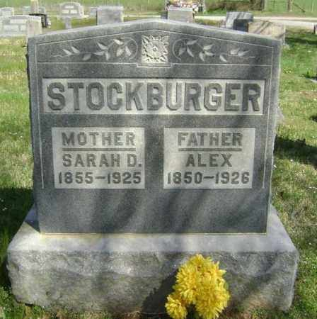 STOCKBURGER, SARAH D. - Washington County, Arkansas | SARAH D. STOCKBURGER - Arkansas Gravestone Photos