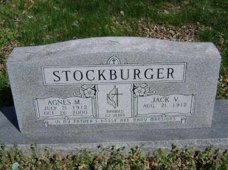 STOCKBURGER, AGNES M. - Washington County, Arkansas | AGNES M. STOCKBURGER - Arkansas Gravestone Photos