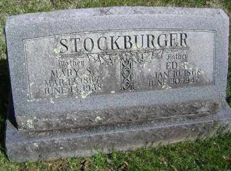 STOCKBURGER, ED E. - Washington County, Arkansas | ED E. STOCKBURGER - Arkansas Gravestone Photos