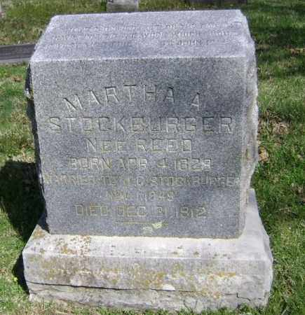 REED STOCKBURGER, MARTHA A - Washington County, Arkansas | MARTHA A REED STOCKBURGER - Arkansas Gravestone Photos