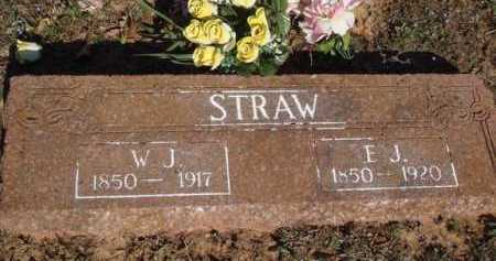 STRAW, E. J. - Washington County, Arkansas | E. J. STRAW - Arkansas Gravestone Photos