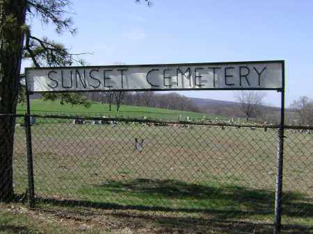 *SUNSET CEMETERY SIGN,  - Washington County, Arkansas |  *SUNSET CEMETERY SIGN - Arkansas Gravestone Photos