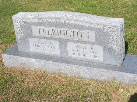 TALKINGTON, PAUL R. - Washington County, Arkansas | PAUL R. TALKINGTON - Arkansas Gravestone Photos