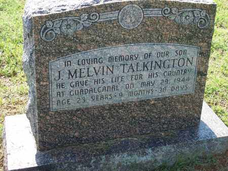 TALKINGTON (VETERAN WWII), J MELVIN - Washington County, Arkansas | J MELVIN TALKINGTON (VETERAN WWII) - Arkansas Gravestone Photos
