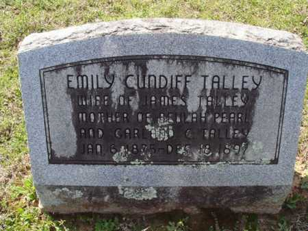 CUNDIFF TALLEY, EMILY - Washington County, Arkansas | EMILY CUNDIFF TALLEY - Arkansas Gravestone Photos