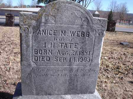 WEBB TATE, ANICE M. - Washington County, Arkansas | ANICE M. WEBB TATE - Arkansas Gravestone Photos