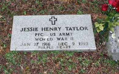 TAYLOR  (VETERAN WWII), JESSIE HENRY - Washington County, Arkansas | JESSIE HENRY TAYLOR  (VETERAN WWII) - Arkansas Gravestone Photos