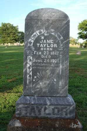 TAYLOR, JANE - Washington County, Arkansas | JANE TAYLOR - Arkansas Gravestone Photos