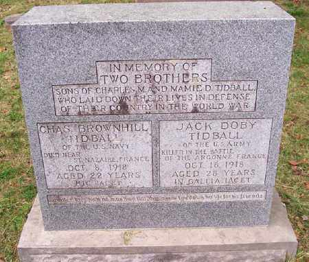 TIDBALL (VETERAN WWI KIA), CHARLES BROWNHILL - Washington County, Arkansas | CHARLES BROWNHILL TIDBALL (VETERAN WWI KIA) - Arkansas Gravestone Photos