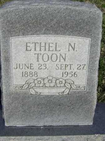 TOON, ETHEL N. - Washington County, Arkansas | ETHEL N. TOON - Arkansas Gravestone Photos