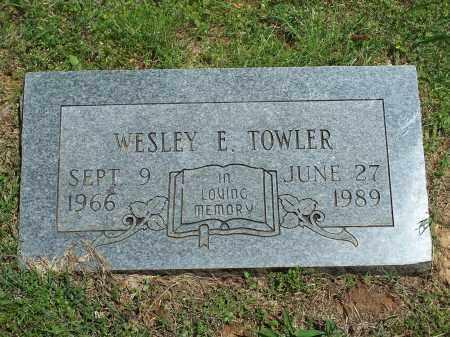 TOWLER, WESLEY E - Washington County, Arkansas | WESLEY E TOWLER - Arkansas Gravestone Photos