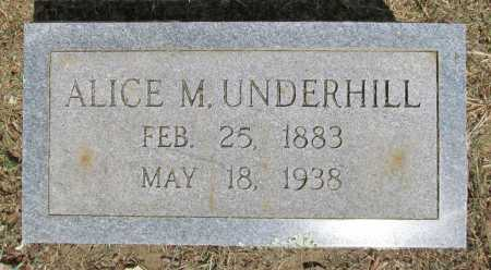 UNDERHILL, ALICE M - Washington County, Arkansas | ALICE M UNDERHILL - Arkansas Gravestone Photos