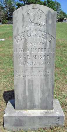 UNDERHILL, BEAULIE G - Washington County, Arkansas | BEAULIE G UNDERHILL - Arkansas Gravestone Photos