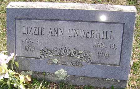 UNDERHILL, LIZZIE ANN - Washington County, Arkansas | LIZZIE ANN UNDERHILL - Arkansas Gravestone Photos