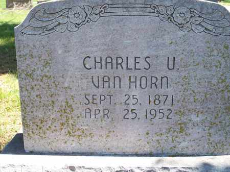 VAN HORN, CHARLES U. - Washington County, Arkansas | CHARLES U. VAN HORN - Arkansas Gravestone Photos