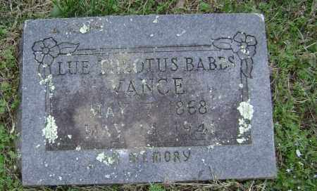 BABBS VANCE, LUE THEOTUS - Washington County, Arkansas | LUE THEOTUS BABBS VANCE - Arkansas Gravestone Photos