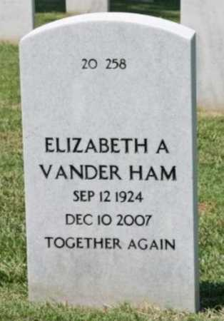VANDER HAM, ELIZABETH A. - Washington County, Arkansas | ELIZABETH A. VANDER HAM - Arkansas Gravestone Photos