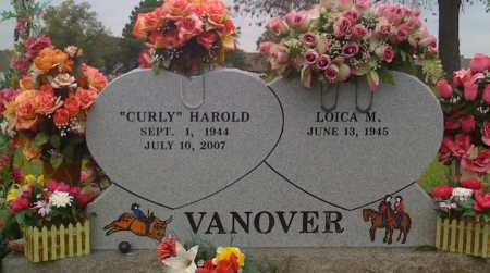 "VANOVER, HAROLD ""CURLY"" - Washington County, Arkansas 