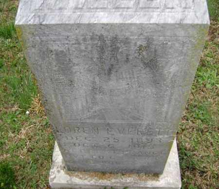 VERELL (VETERAN WWI), OREN E. - Washington County, Arkansas | OREN E. VERELL (VETERAN WWI) - Arkansas Gravestone Photos