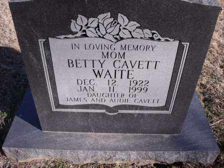 CAVETT WAITE, BETTY - Washington County, Arkansas | BETTY CAVETT WAITE - Arkansas Gravestone Photos