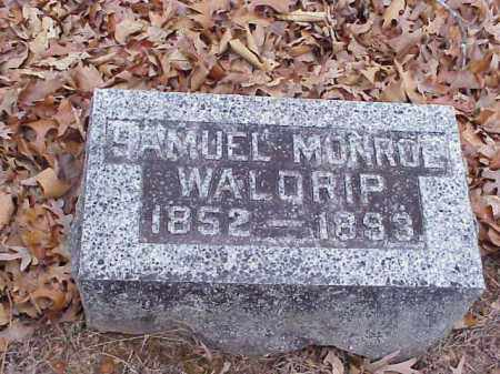 WALDRIP, SAMUEL MONROE - Washington County, Arkansas | SAMUEL MONROE WALDRIP - Arkansas Gravestone Photos