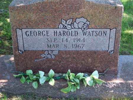 WATSON, GEORGE HAROLD - Washington County, Arkansas | GEORGE HAROLD WATSON - Arkansas Gravestone Photos
