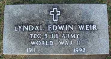 WEIR  (VETERAN WWII), LYNDAL EDWIN - Washington County, Arkansas | LYNDAL EDWIN WEIR  (VETERAN WWII) - Arkansas Gravestone Photos