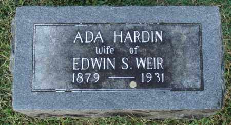 HARDIN WEIR, ADA - Washington County, Arkansas | ADA HARDIN WEIR - Arkansas Gravestone Photos