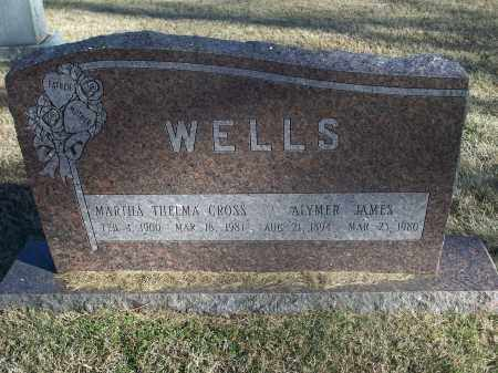 CROSS WELLS, MARTHA THELMA - Washington County, Arkansas | MARTHA THELMA CROSS WELLS - Arkansas Gravestone Photos