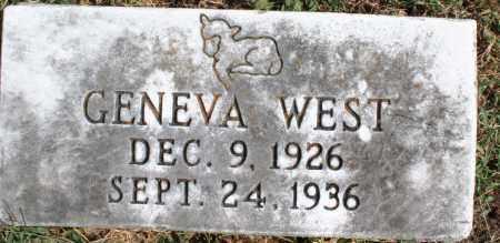WEST, GENEVA - Washington County, Arkansas | GENEVA WEST - Arkansas Gravestone Photos
