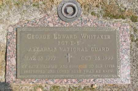 WHITAKER, GEORGE EDWARD - Washington County, Arkansas | GEORGE EDWARD WHITAKER - Arkansas Gravestone Photos