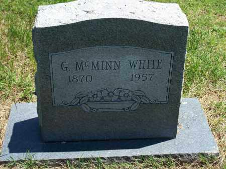 WHITE, GEROME  MCMINN - Washington County, Arkansas | GEROME  MCMINN WHITE - Arkansas Gravestone Photos