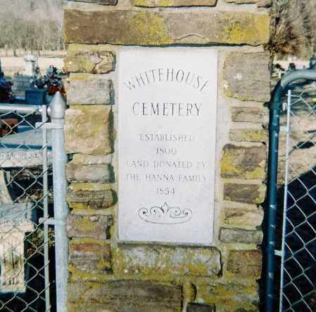*WHITE HOUSE CEMETERY PLAQUE,  - Washington County, Arkansas |  *WHITE HOUSE CEMETERY PLAQUE - Arkansas Gravestone Photos