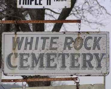 *WHITE ROCK CEMETERY SIGN,  - Washington County, Arkansas |  *WHITE ROCK CEMETERY SIGN - Arkansas Gravestone Photos
