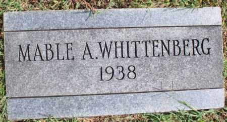WHITTENBERG, MABLE A. - Washington County, Arkansas | MABLE A. WHITTENBERG - Arkansas Gravestone Photos