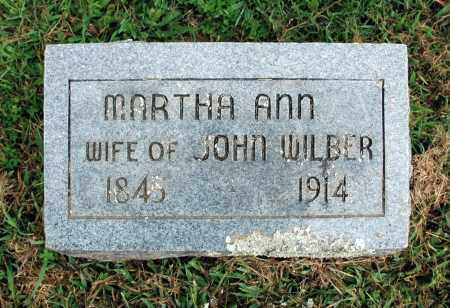 WILBER, MARTHA ANN - Washington County, Arkansas | MARTHA ANN WILBER - Arkansas Gravestone Photos
