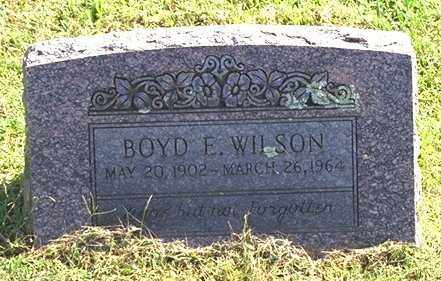 WILSON, BOYD EARNEST - Washington County, Arkansas | BOYD EARNEST WILSON - Arkansas Gravestone Photos