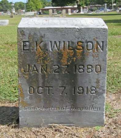 WILSON, E. K. - Washington County, Arkansas | E. K. WILSON - Arkansas Gravestone Photos