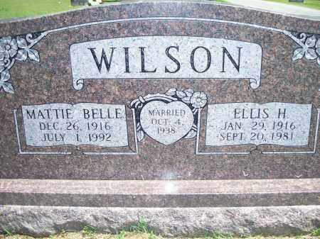 WILSON, MATTIE BELLE - Washington County, Arkansas | MATTIE BELLE WILSON - Arkansas Gravestone Photos