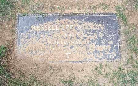 WILSON (VETERAN WWII), RUSSELL LEE - Washington County, Arkansas | RUSSELL LEE WILSON (VETERAN WWII) - Arkansas Gravestone Photos
