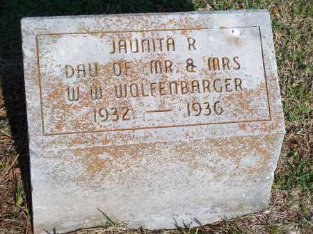 WOLFENBARGER, JAUNITA R. - Washington County, Arkansas | JAUNITA R. WOLFENBARGER - Arkansas Gravestone Photos